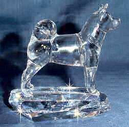 Akita Crystal Sculputre Side View