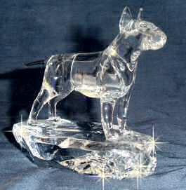 Bull Terrier Handsculpted Crystal 3/4 View