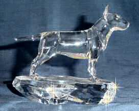 Bull Terrier Handsculpted Crystal Side View