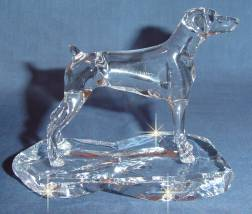 Crystal Statue of Domerman with Natural Ears