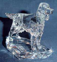 Crystal Sculpture of Gordon Setter 3/4 View